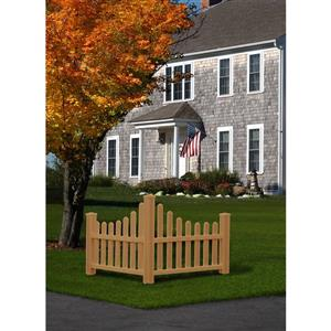 New England Arbors Corner Composit Picket Fence