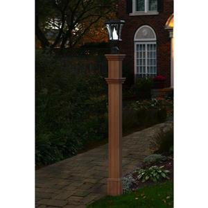 New England Arbors Burton Composite Lamp Post