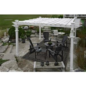 New England Arbors Canvas Weave 10-In  x 10-In Pergolas