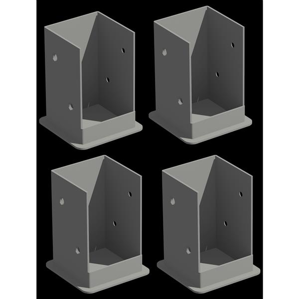 New England Arbors Bolt Down Brackets 4 Pack Pergolas