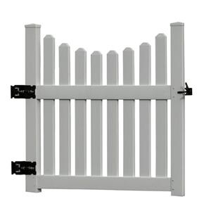 New England Arbors White Cottage Picket Gate