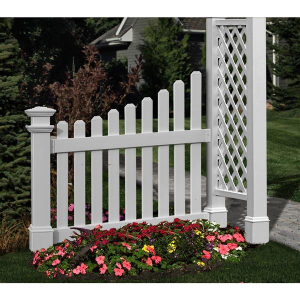 Extensions de clôture à piquets.