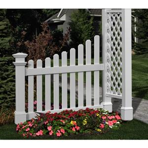 New England Arbors White Cottage Picket Wings