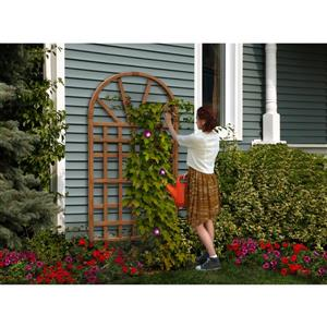 New England Arbors Brown Savannah Trellis