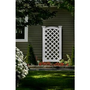 New England Arbors White Luxembourg Privacy Screen