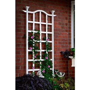 New England Arbors White London Trellis