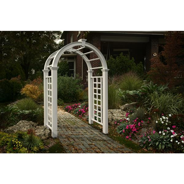 New England Arbors White Nantucket Deluxe Arbor