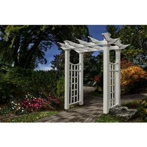New England Arbors White Fairfield Deluxe