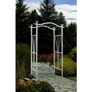 New England Arbors White London Arbor