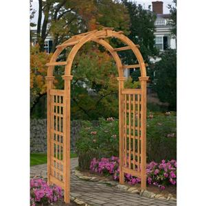 New England Arbors Brown Cedar Rosewood Arbor