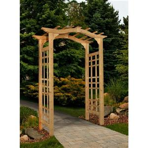 New England Arbors Brown Cedar Westwood Arbor