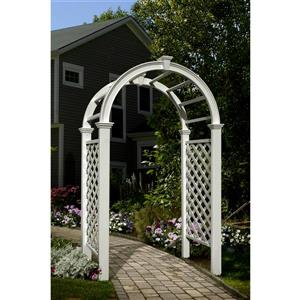 New England Arbors White Livingston Arbor