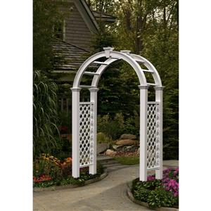 New England Arbors White Nantucket Legacy Arbor