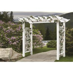 New England Arbors White Fairfield Grande Arbor