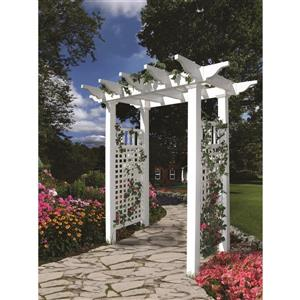New England Arbors White Fairfield Arbor