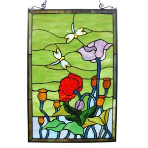 Dragonfly Tiffany-Style Window Panel