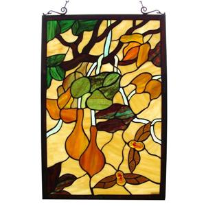 Butterfly Tiffany Style Window Panel