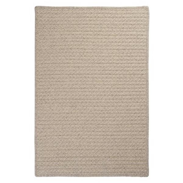 Colonial Mills Natural Wool Houndstooth 4-ft Square Cream Area Rug
