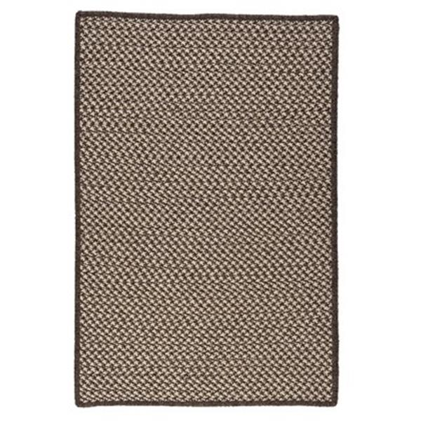 Colonial Mills Natural Wool Houndstooth 6-ft Square Espresso Area Rug