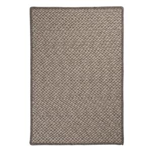 Colonial Mills Natural Wool Houndstooth 2-ft x 8-ft Latte Runner