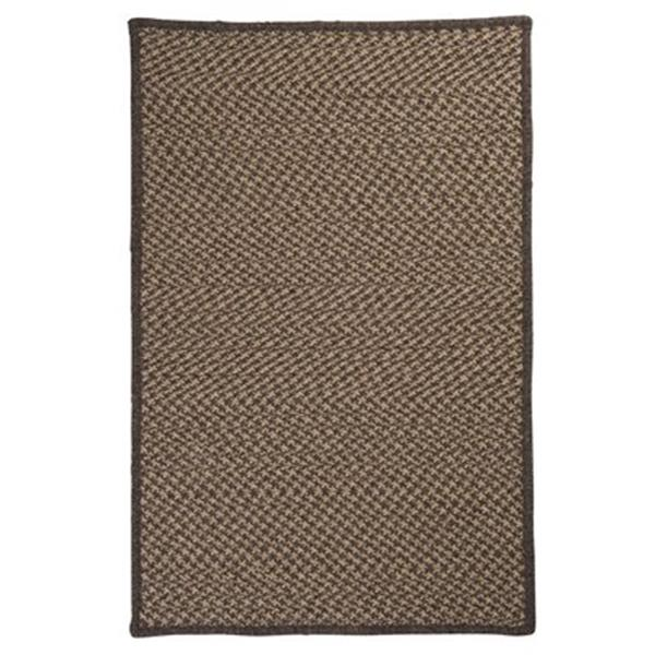 Colonial Mills Natural Wool Houndstooth 8-ft x 11-ft Caramel Area Rug