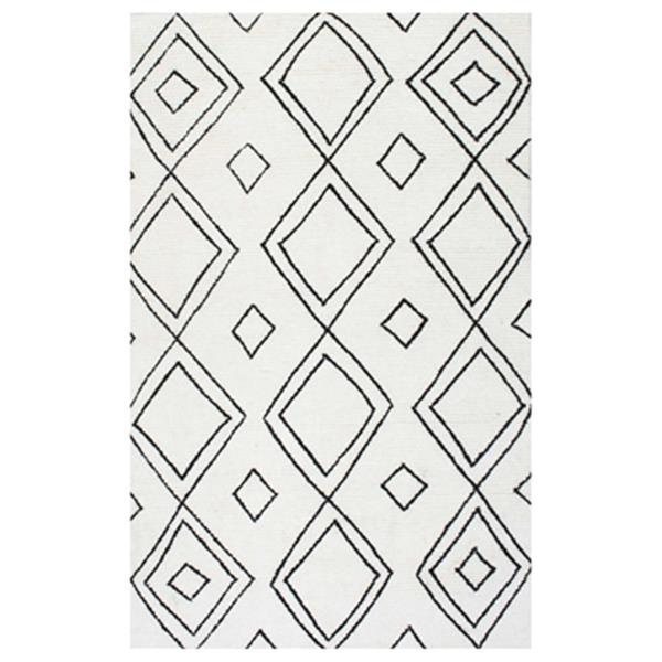 nuLOOM Natural Hand Tufted Dawne 5-ft x 8-ft White Area Rug