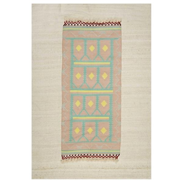 nuLOOM Hand Knotted Lena 6-ft x 9-ft Multicolour and Grey Area Rug