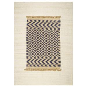nuLOOM Hand Knotted Wallace 6-ft x 9-ft Blue Area Rug