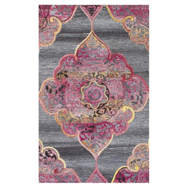 nuLOOM Hand Tufted Fallon 5-ft x 8-ft Grey Area Rug