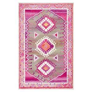 nuLOOM Hand Tufted Tribal Diamond Elza 4-ft x 6-ft Pink Area Rug