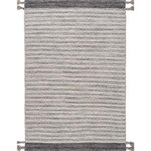nuLOOM Jenson Tassel 5-ft x 8-ft Grey Area Rug