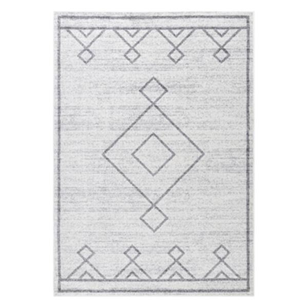 nuLOOM Tribal Diamond Medallion 8-ft x 10-ft Grey Area Rug
