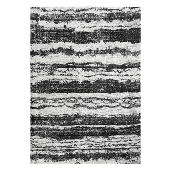 nuLOOM Vintage Abstract Yuonne 8-ft x 10-ft Black Area Rug