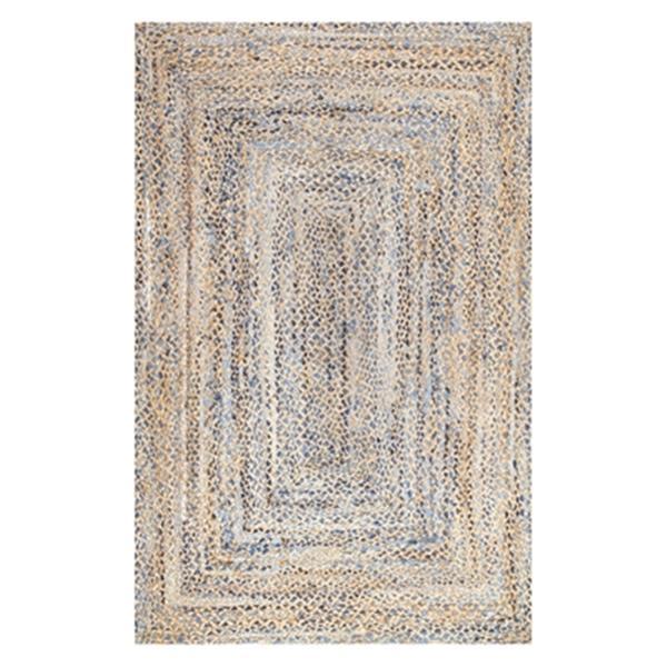 nuLOOM Hand Braided Eliz Jute 8-ft x 10-ft Off-White Area Rug