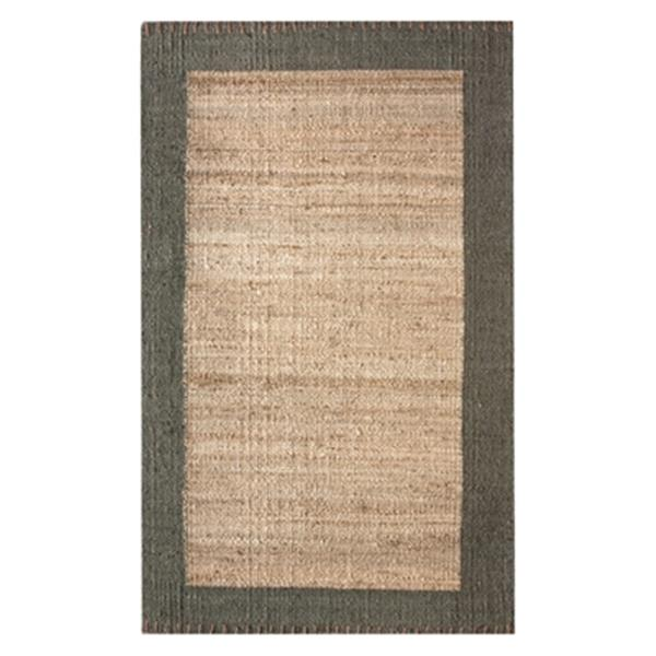 nuLOOM Cameron Jute Natural 6-ft x 9-ft Off-White Area Rug