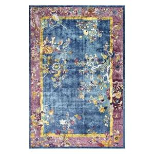 nuLOOM Nia Floral Chinese Art Deco 5-ft x 8-ft Blue Area Rug