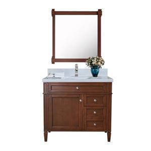 Sorel Walnut Vanity with White Quartz Countertop - 36
