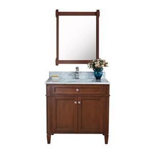 Sorel Walnut Vanity with Marble Countertop - 30