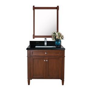 Sorel Walnut Vanity with Black Quartz Countertop - 30