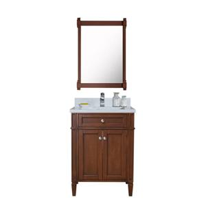 Sorel Walnut Vanity with White Quartz Countertop - 24