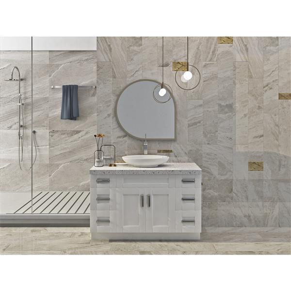 "Meuble-lavabo 51"", blanc perle"