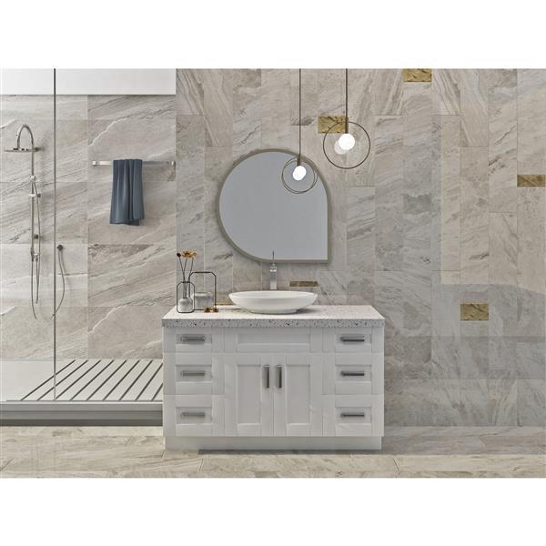 "Meuble-lavabo 54"", blanc perle"