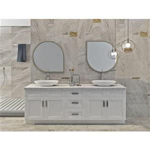 Cowry White 90-in x 21-in x 31.50-in Cabinet