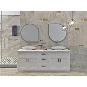 Cowry White 81-in x 21-in x 31.50-in Cabinet