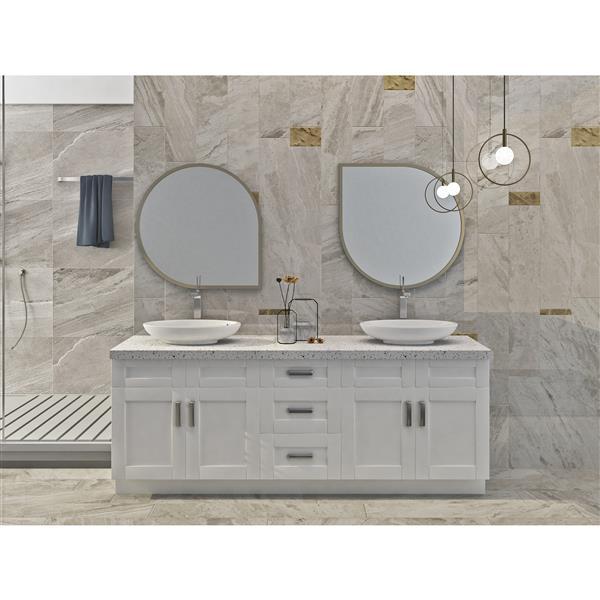 "Meuble-lavabo 84"", blanc perle"