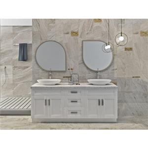 Cowry White 78-in x 21-in x 31.50-in Cabinet