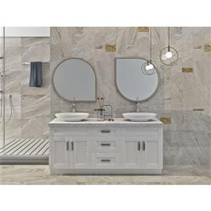 Cowry White 72-in x 21-in x 31.50-in Cabinet