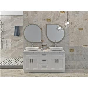 Cowry White 63-in x 21-in x 31.50-in Cabinet