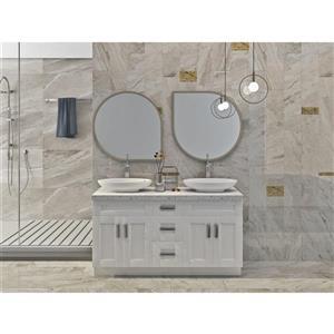 "Meuble-lavabo 60"", blanc perle"