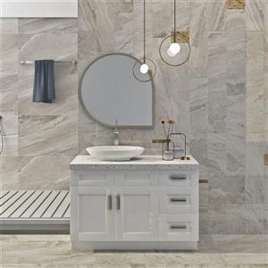 "Meuble-lavabo 48"", blanc perle"